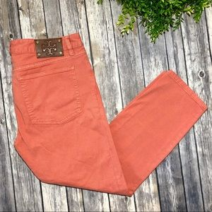 Tory Burch Alexa Cropped Jeans Toasted Pecan NWT